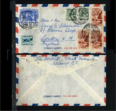 1945 - Mexico Flight cover - Transport - Airmail - From Mexico to London [B04_05