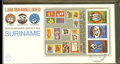 1980 - Rep. Surinam FDC E046Bl - 5 years of Independency (block) [R07753]