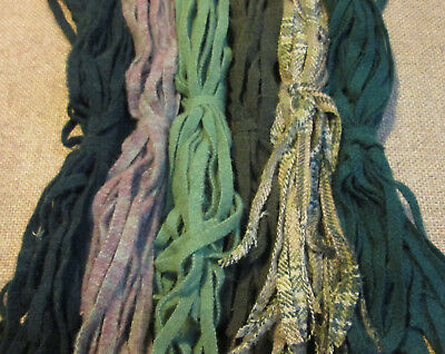 Fields of Heather 150 Hand and Mill dyed  #8 Rug Hooking Wool Strips