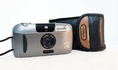 CANON SURE SHOT SLEEK 35mm film point and shoot compact camera lomo retro
