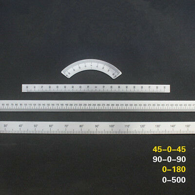 Milling Machine Parts Aluminum 45° Degree Scale Angle Plate Micrometer Ruler
