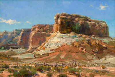 Western Arizona Landscape Oil painting Art Giclee Printed on Canvas P1058