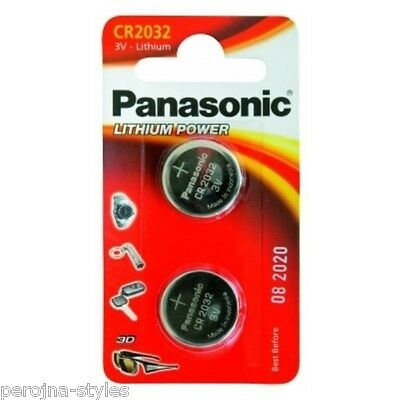 PANASONIC Button battery CR2032 Lithium 3V Blister of 2 Button cell CR2032