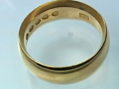 HANDSOME  heavy 14K yellow gold WIDE WEDDING BAND ring..size 4.75...6.4gm...