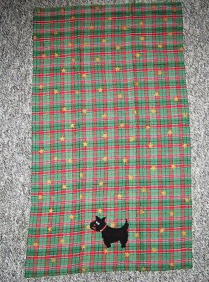 SCOTTISH PLAID SCOTTY DOG Tea Towel