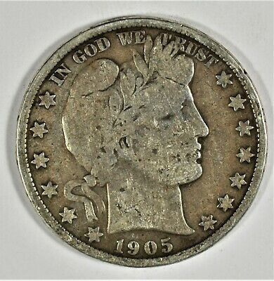 1905 Collectible Silver Barber Half-Dollar (b536.91)