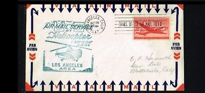 [ER028] 1947 - USA First flight cover - Transport - Helicopters - Airmail servic