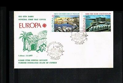 [KZ027] 1977 - Europe CEPT FDC Turkish-Cyprus
