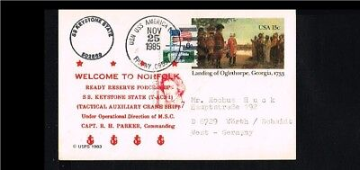 [HC111] 1985 - USA Postal stationary - Military - Navy - SS Keystone State - Wel