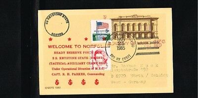 [HC109] 1985 - USA Postal stationary - Military - Navy - SS Keystone State - Wel