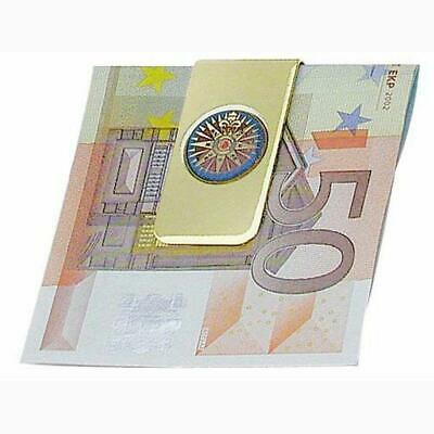 G4962: Noble Maritime Money Clip with Compass Rose,Polished Brass