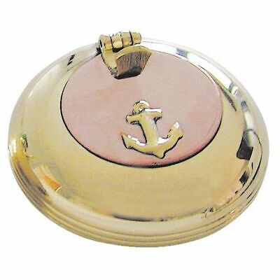 G4253: Maritime Folding Ashtray, Marine Ashtray, Brass Kupferdeckel 6 Cm