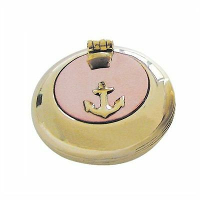 G4252: Maritime Folding Ashtray, Marine Ashtray, Brass Kupferdeckel 5 Cm