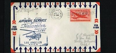 [ER026] 1947 - USA First flight cover - Transport - Helicopters - Airmail servic