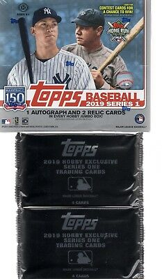 2019 Topps Series 1 Baseball Hobby Sealed Jumbo Box + 2 Silver Pack