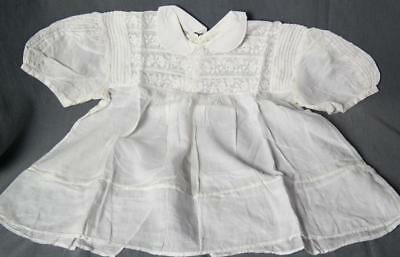 BEAUTIFUL ANTIQUE FRENCH LACE & EMBROIDERED BABY OR DOLL DRESS c1900 #1