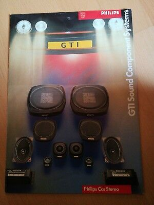 Älterer Philips Car Stereo GTI Sound Component Systems Katalog