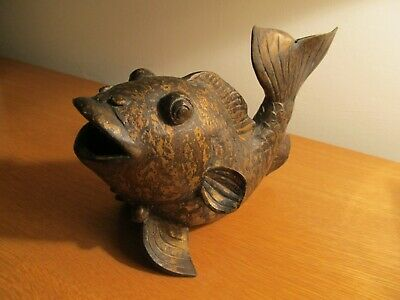 Heavy Oriental  Bronze Metal Coi Carp Fish