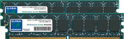 1gb 2x512mb Ddr2 533/667/800mhz 240-polig ECC UDIMM Server /