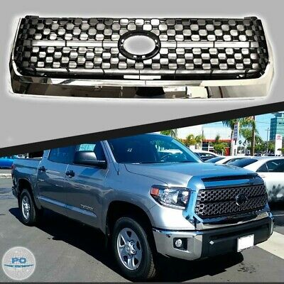 Fits For 2014 2019 Toyota Tundra Front Grill Factory Style Chrome Grille