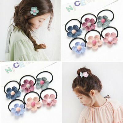Lovely Christmas Flower Ponytail Holder Children Hair Accessories Party Gifts