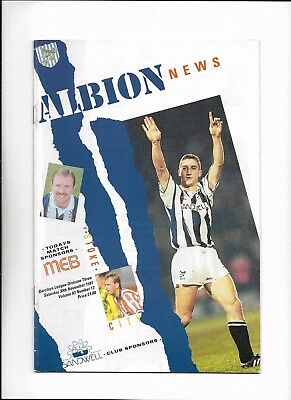 West Bromwich Albion V Stoke City 30/11/1991 Division 3 (4)