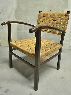 1930 Fauteuils Moderniste Design Cordage Bauhaus Moderniste Groupius