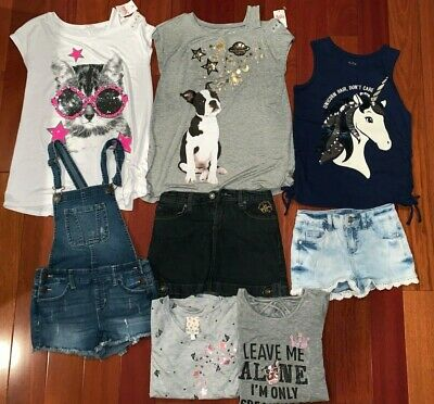 8 Piece Summer Lot of girls clothes size 10 (Some with Tags)