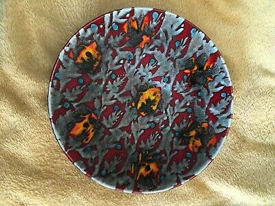 Poole Pottery Red Magma Dish, 25 cm diameter, excellent condition