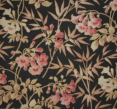 BEAUTIFUL 19th CENTURY FRENCH NAPOLEON III FLORAL LINEN COTTON  c1870, 145.