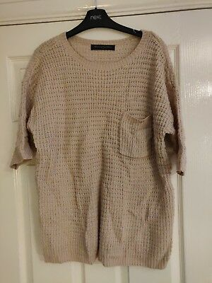 Mothercare Blooming Marvellous Pale Pink Jumper 3/4 Sleeve Size 12