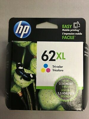 HP 62XL High Yield Tri-color Ink Cartridge-New in Box-