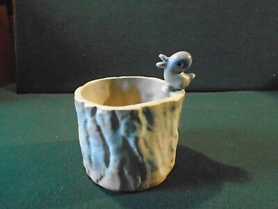 Rare Denby comical novelty pot with a bird chick waiting to be fed.