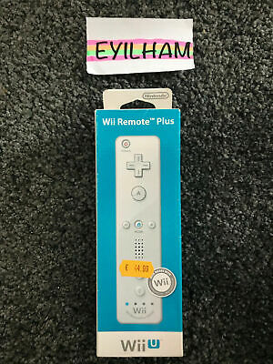 Official Nintendo Wii & Wii U Remote Controller White Motion Plus/ FAST SHIPPING