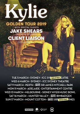 KYLIE MINOGUE - 2 x 3RD ROW SECTION B FLOOR TICKETS - SYDNEY WEDNESDAY MARCH 6