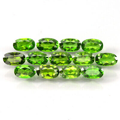 13pcs. 3.19ct. 5x3mm. Oval Cut 100%natural Top Rich Green Chrome Diopside Lot!