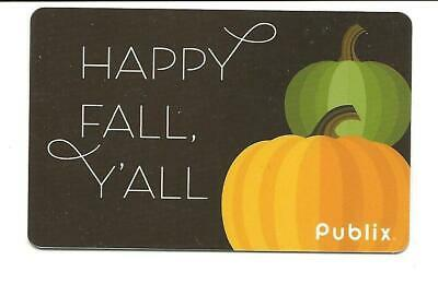 Publix Happy Fall Y'all Pumpkins Gift Card No $ Value Collectible