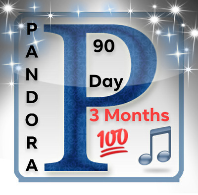 Pandora Music Premium Family Plan Account 3 Months- 6 Users - Instant Delivery