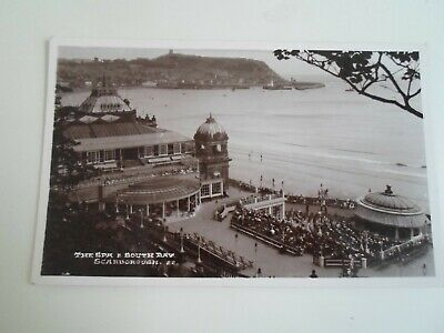 SCARBOROUGH The Spa+South Bay, Vintage Bamforth RPPC Franked+Stamped 1936  §E77