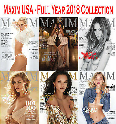 Maxim USA - Full Year 2018 Collection - Digital PDF
