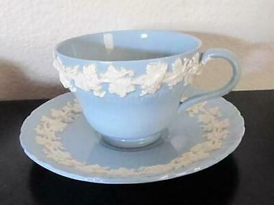 Wedgwood Blue Queensware  Cup and Saucer