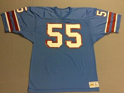 Vintage 70S 80S Houston Oilers  55 Russell Athletic Football Jersey Mens  Large 0a5a063d4