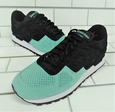 new product 6bb28 11a4b SAUCONY SHADOW ORIGINAL Suede Sneakers, Black / Mint