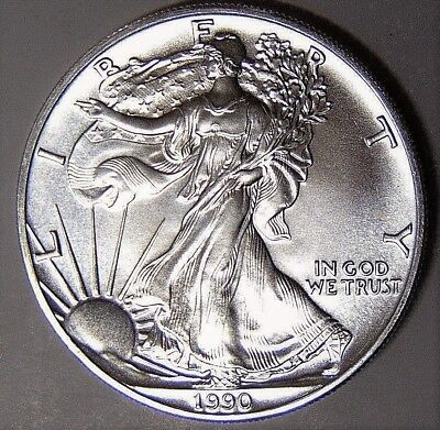 1990 Silver American Eagle BU 1 oz $1 Dollar US Mint Brilliant Uncirculated *90