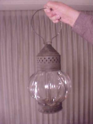 Early Thick Fluted Puffy Glass Lantern