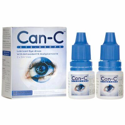 Can-C Lubricant Eye Drops with N-Acetylcarnosine 2 x 5 ml Vials Expires - 5/2019