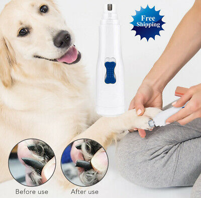 Professional Electric Dog Cat Pet Nail Trimmer Grinder Clipper Grooming Tool Kit