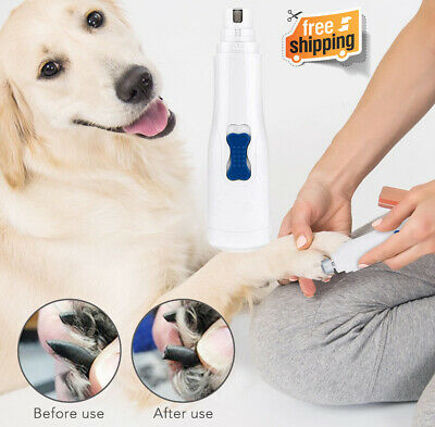 Professional Electric Pet Cat Dog Nail Trimmer Grinder Clipper Grooming Tool Kit