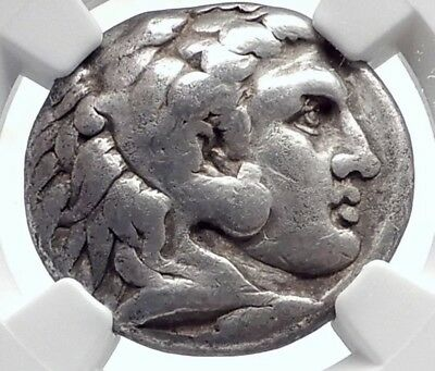 ALEXANDER III the Great Authentic Ancient Greek Silver TETRADRACHM Coin NGC ZEUS
