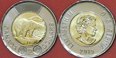 Brilliant Uncirculated 2019 Canada 2 Dollars From Mint's Roll